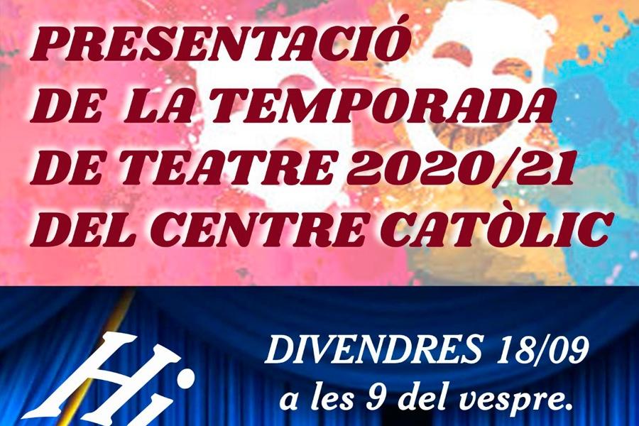 Presentació de la temporada teatral 2020/21
